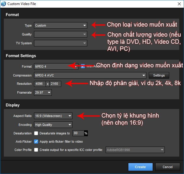 Cách xuất video chất lượng cao trong Proshow Producer - B02