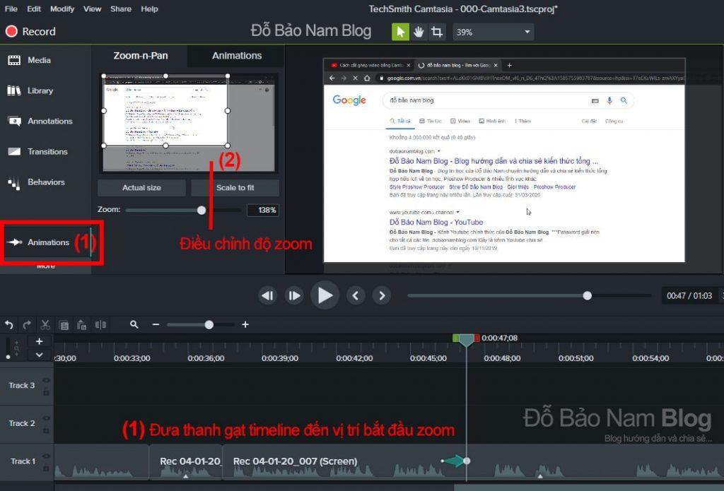 Cách tạo hiệu ứng zoom video, phóng to video