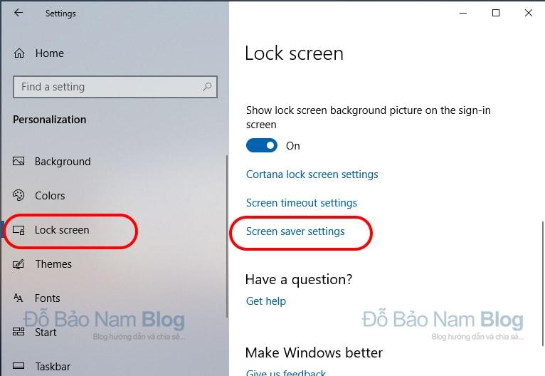 Cách cài đặt khóa màn hình máy tính Win 10 tự động - Bước 02