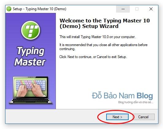 Hướng dẫn cài đặt phần mềm Typingmaster Pro - Chọn Next để tiếp tục