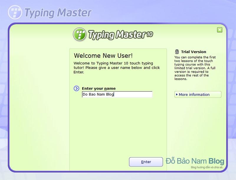 Hướng dẫn cài đặt phần mềm Typingmaster Pro - B9