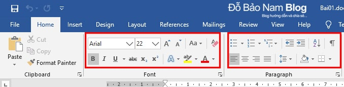 Cách định dạng văn bản trong Word