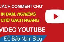 Cách comment chữ đậm trên Youtube