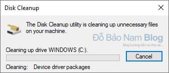 Đợi để công cụ dọn dẹp rác máy tính