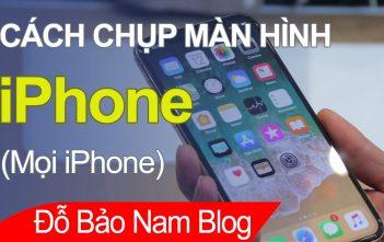 Cách chụp màn hình iPhone áp dụng cho mọi điện thoại iPhone
