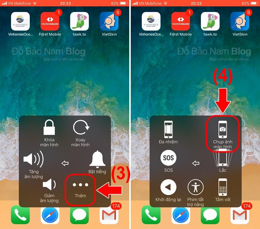 Hướng dẫn cách chụp ảnh màn hình iPhone qua hình ảnh minh họa - Bước 02