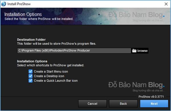 Hướng dẫn cách cài đặt phần mềm Proshow Producer chi tiết - Bước 06