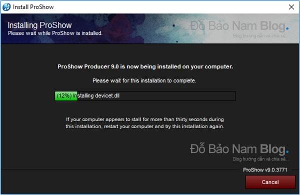 Hướng dẫn cách cài đặt phần mềm Proshow Producer chi tiết - Bước 08