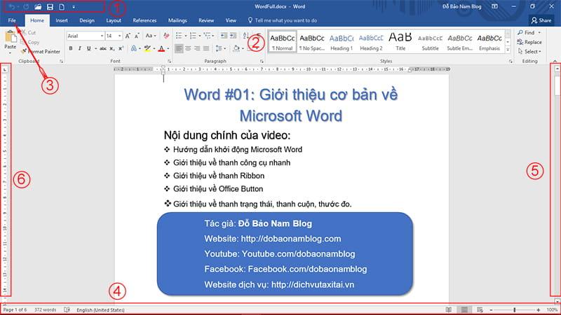 Giới thiệu về thanh Ribbon của phần mềm Microsoft Word
