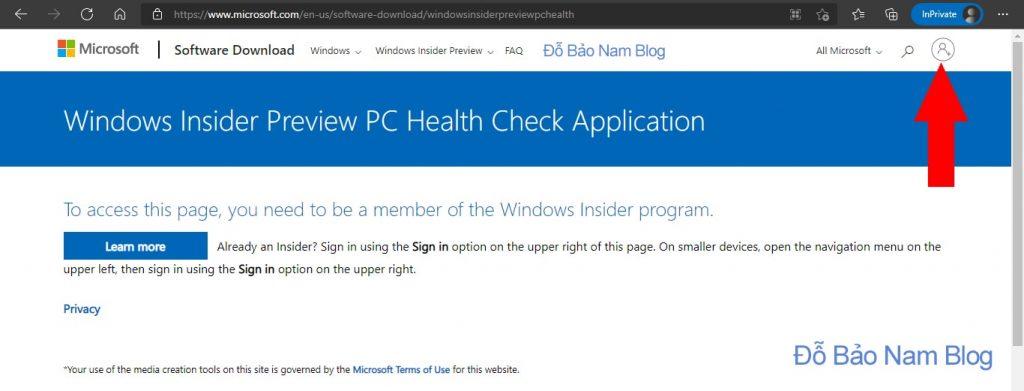 Tải ứng dụng PC Health của Microsoft để kiểm tra máy có cài được Win 11 hay không