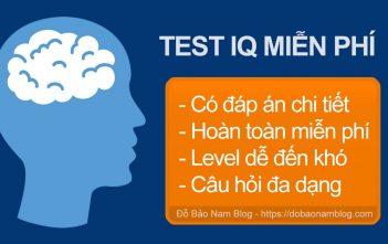 Test IQ miễn phí, những câu hỏi kiểm tra IQ miễn phí P01