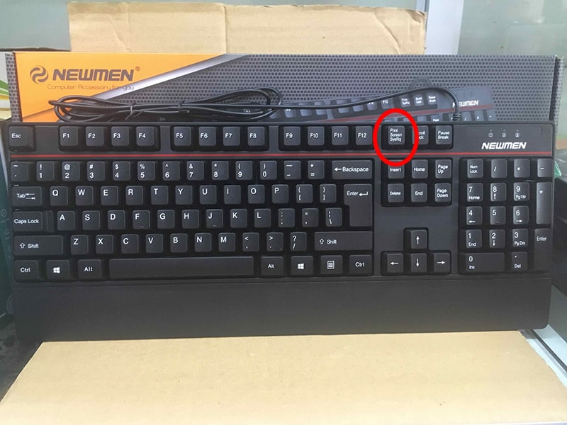 Vị trí của phím Print Screen trên bàn phím máy bàn